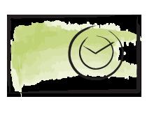 Атрибут декора - настенные часы